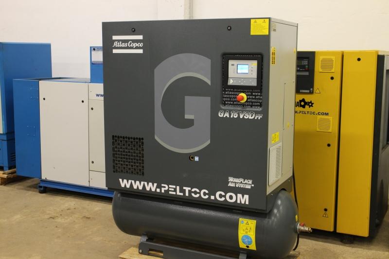 Air Compressor Filter Dryer >> Screw compressor Atlas Copco GA 15 VSD FF - www.peltoc.com